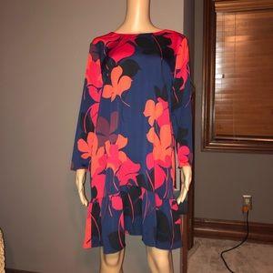 HALOGEN® Button Back Ruffle Hem Dress NWT